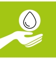 hands together environment water concept vector image vector image