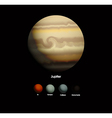 Jupiter and Moons vector image vector image