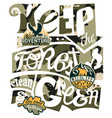 keep forest clean and green vector image vector image