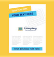 laptop title page design for company profile vector image vector image