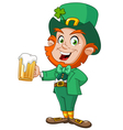 Leprechaun with beer vector | Price: 3 Credits (USD $3)