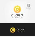 letter c clogo logo yellow vector image vector image