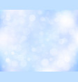 light blue abstract bokeh background vector image vector image