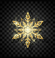 luxury golden snowflake symbol of new year and vector image vector image