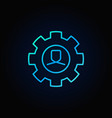Man in cog blue icon