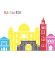 Marrakesh skyline pop vector image