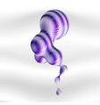 metaball element with striped texture the liquid vector image