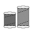 monochrome contour with thread spool pair vector image vector image