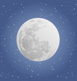 moon on dark background night sky vector image