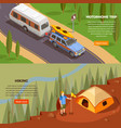 motorhome trip banners collection vector image