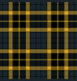 navy blue tartan plaid seamless pattern vector image vector image