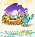 Old saying good nest egg vector image vector image