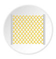 perforated gate icon circle vector image vector image