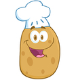 Potato Cartoon Mascot Character With Chef Hat vector image vector image