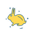 rabbit icon design vector image vector image