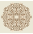 Round floral henna tattoo mandala vector image