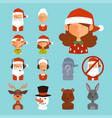 santa claus avatar face characters face vector image vector image