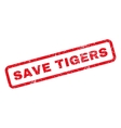 Save Tigers Rubber Stamp vector image vector image