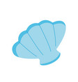 sea shell icon on white background for graphic and vector image vector image