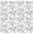 seamless love flower pattern white vector image