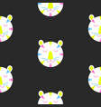 seamless pattern with cute lion heads vector image
