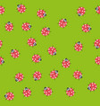 seamless pattern with kawaii ladybugs vector image vector image