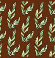seamless trendy pattern design withleafs vector image vector image