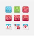 set location app icon vector image vector image