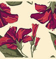 summer hawaiian seamless pattern with hibiscus vector image vector image