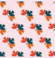 symmetric autumn seamless pattern pastel colors vector image