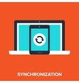 synchronization vector image vector image