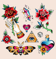 tattoo set romantic vector image