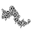 tilos greek island map mosaic of soccer spheres vector image vector image