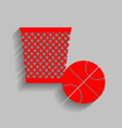 trash sign red icon with vector image vector image