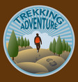 trekking in the wild nature vector image