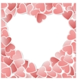 valentine hearts card vector image vector image