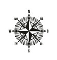 vintage navigation compass icon vector image