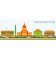 Washington DC Skyline with Color Buildings vector image vector image