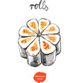 watercolor rolls - vector image vector image
