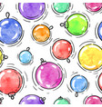 winter seamless pattern watercolor christmas ball vector image vector image