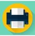 Printer icon Flat design vector image