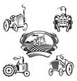 set of tractors vector image