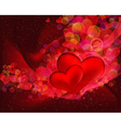 Flying hearts abstract background with space for vector image