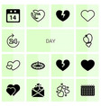 14 day icons vector image vector image