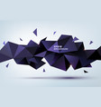abstract geometric 3d shape triangular vector image vector image
