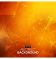 Abstract polygonal orange red low poly background vector image vector image