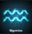 abstract zodiac sign aquarius