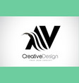 av a v creative brush black letters design with vector image vector image