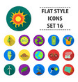 bio and ecology set icons in flat style big vector image vector image