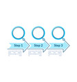 blue circles steps infographic template vector image vector image